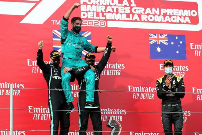 2020年F1第13戦エミリア・ロマーニャGP 表彰式