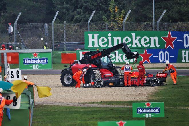 2020年F1第13戦エミリア・ロマーニャGP マックス・フェルスタッペン(レッドブル・ホンダ)、タイヤトラブルによりリタイア