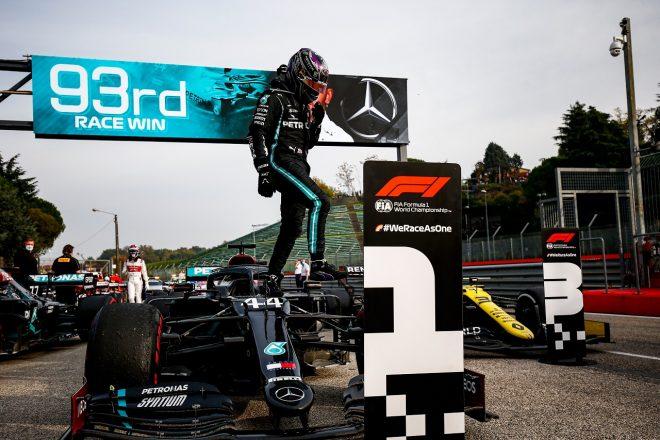 2020年F1第13戦エミリア・ロマーニャGP ルイス・ハミルトン(メルセデス)が優勝