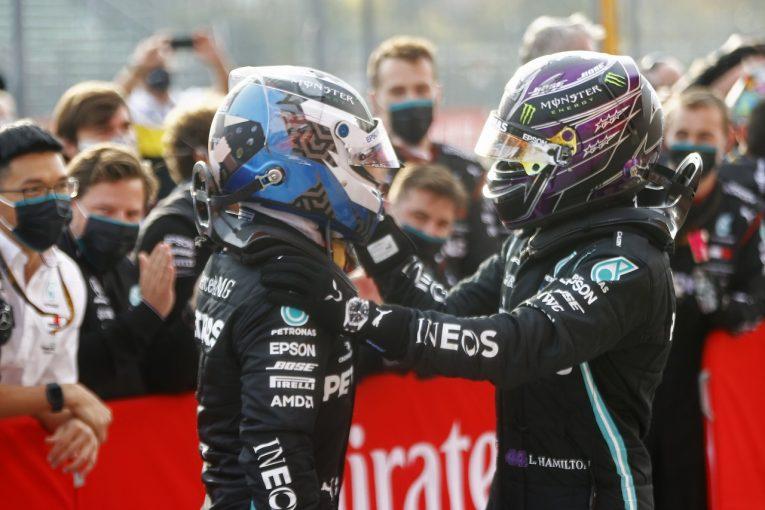 F1 | ボッタス2位「2周目にデブリで車が傷つき、優勝を狙えなくなった」メルセデス【F1第13戦】