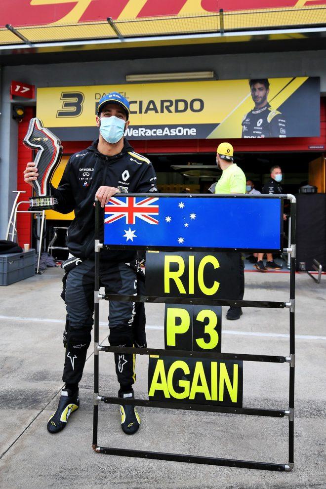 2020年F1第13戦エミリア・ロマーニャGP ダニエル・リカルド(ルノー)が3位を獲得