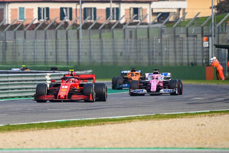 F1   レーシングポイントF1、ハードタイヤでのリスタートを懸念してペレスのタイヤを交換「ソフトよりの新品が一番安全」