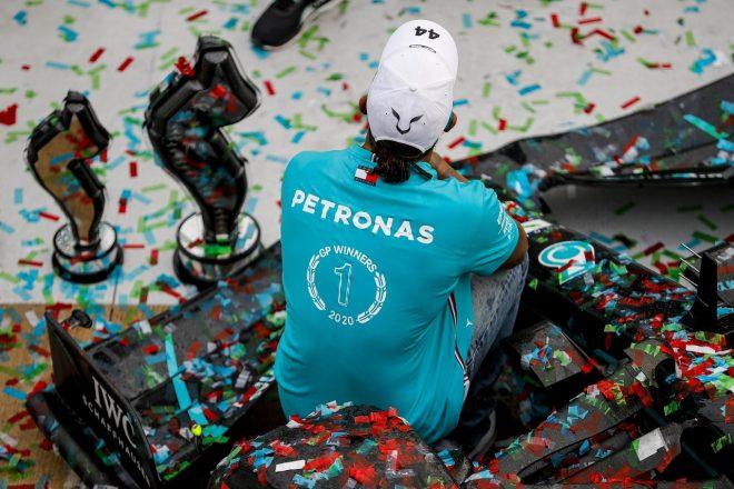 2020年F1第13戦エミリア・ロマーニャGP 優勝したルイス・ハミルトン(メルセデス)