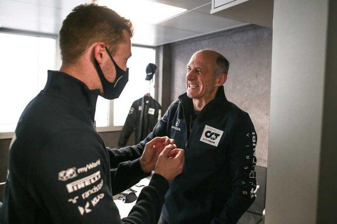 2020年F1第13戦エミリア・ロマーニャGPで4位に入賞したダニール・クビアト(アルファタウリ・ホンダ)