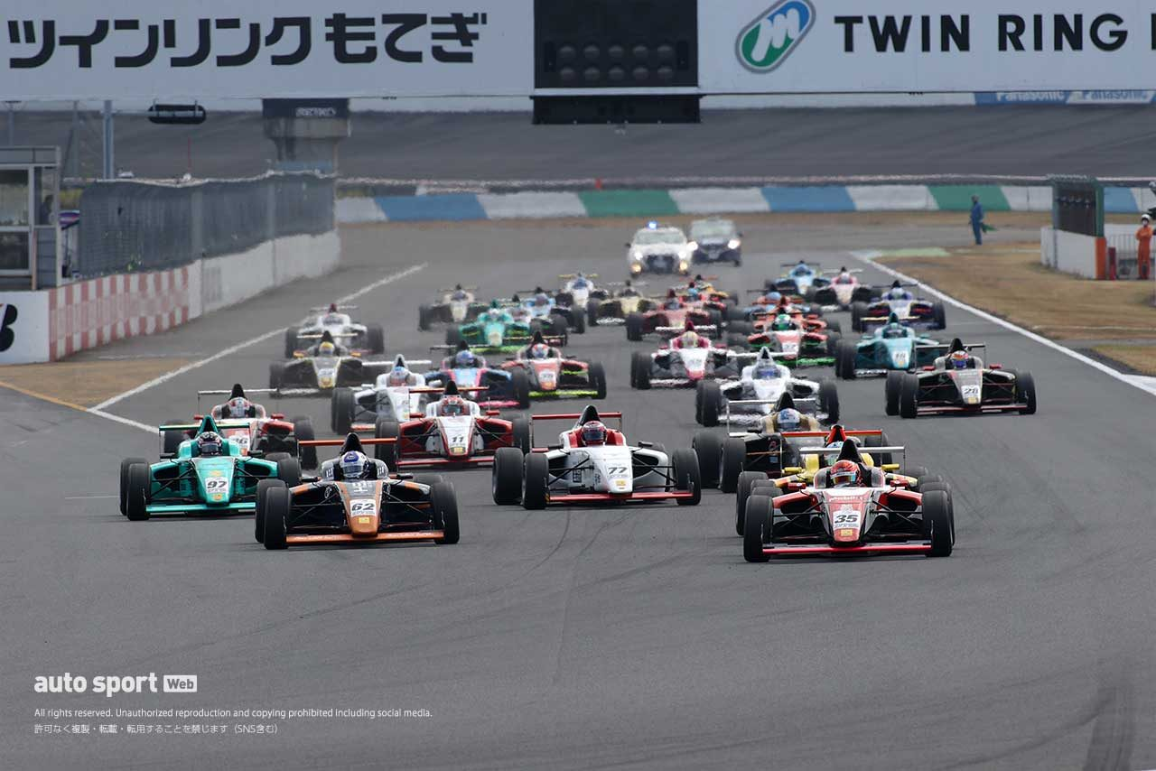 FIA-F4選手権 2020年第7戦もてぎ スタート