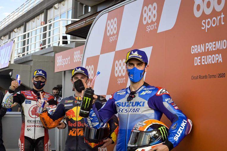 MotoGP | 2020年2度目のポール獲得のP.エスパルガロ「転倒のリスクがあるなかでポールを獲得できた」/MotoGP第13戦予選トップ3コメント