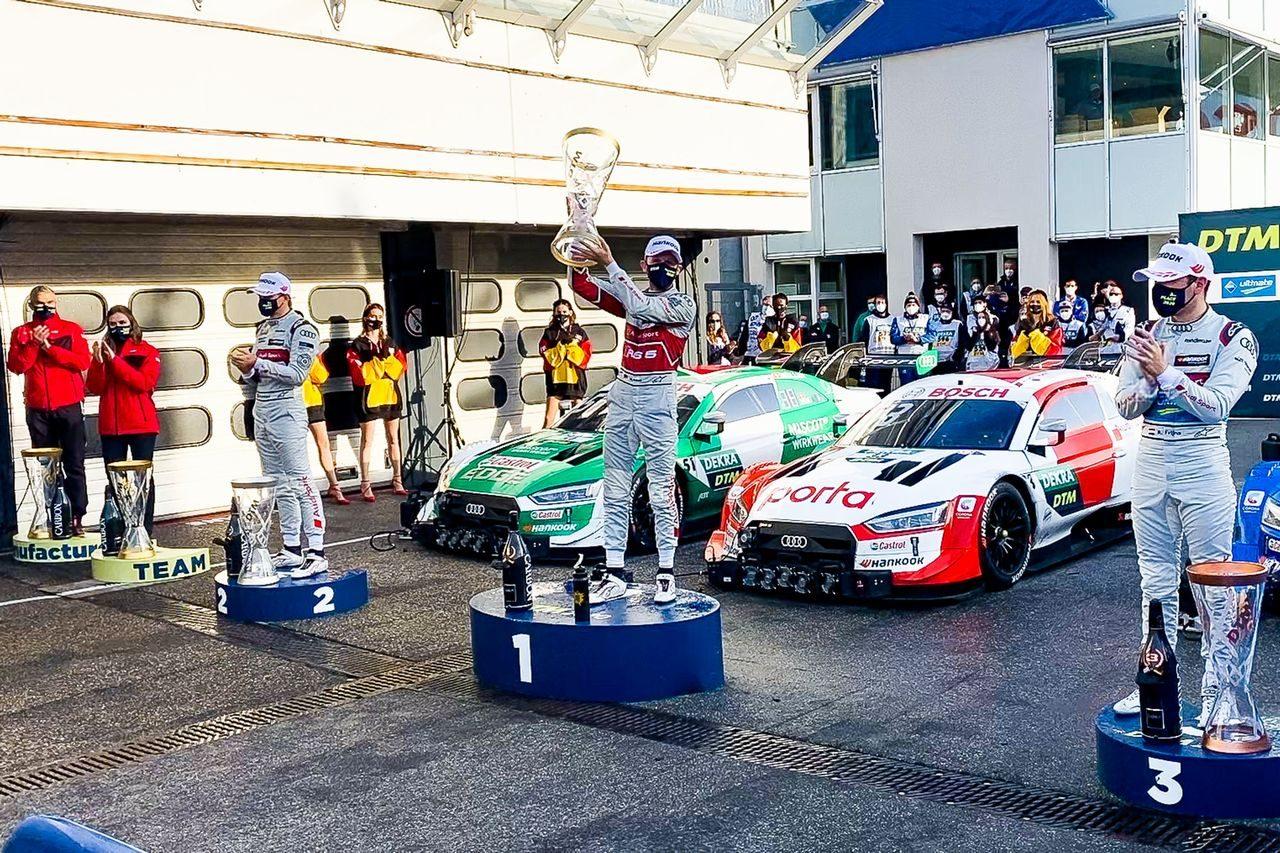 DTM最終戦:ミューラーの挑戦退け王者ラストがポール・トゥ・ウイン。通算24勝目で3度目の戴冠決める