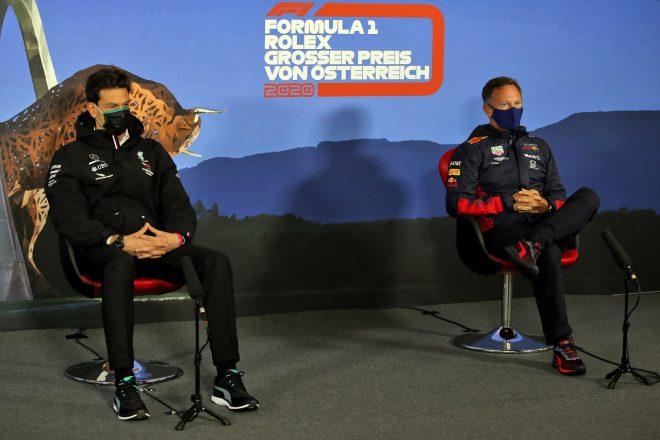 メルセデスF1代表トト・ウォルフとレッドブル・レーシング代表クリスチャン・ホーナー