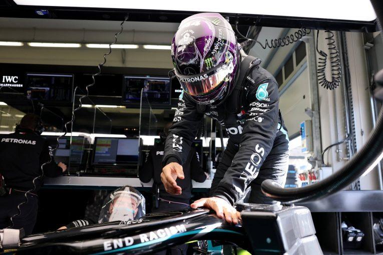 F1 | ハミルトン4番手「レッドブルはうまく対処しているが、僕らは1周通して恐ろしい状態」メルセデス【F1第14戦金曜】