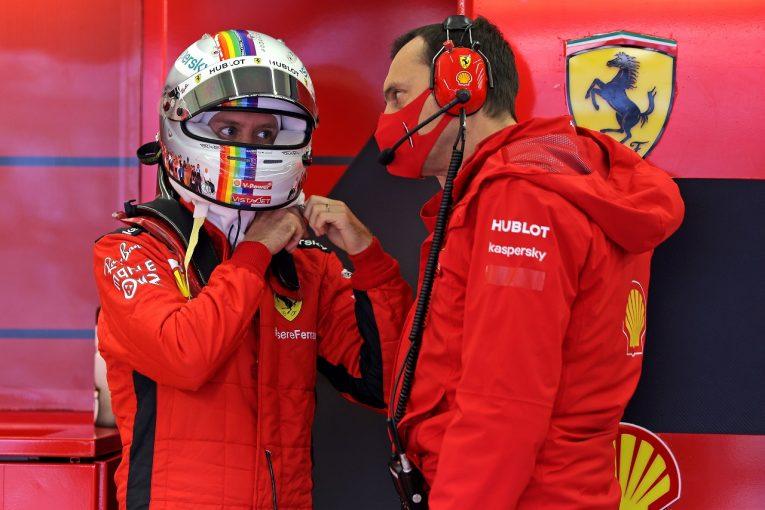 F1 | ベッテル8番手「いつもと違う金曜。今日の走行からは序列は予想できない」フェラーリ【F1第14戦】