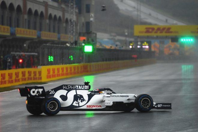2020年F1第14戦トルコGP ダニール・クビアト(アルファタウリ・ホンダ)がスピン
