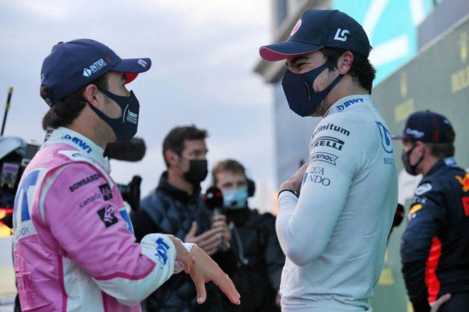 2020年F1第14戦トルコGP セルジオ・ペレスとランス・ストロール(レーシング・ポイント)
