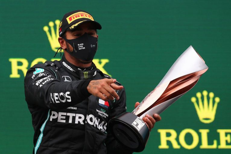 F1 | ハミルトンが優勝で最多タイ記録に並ぶ7度目のタイトルを獲得。1ストップ戦略を完遂【決勝レポート/F1第14戦】