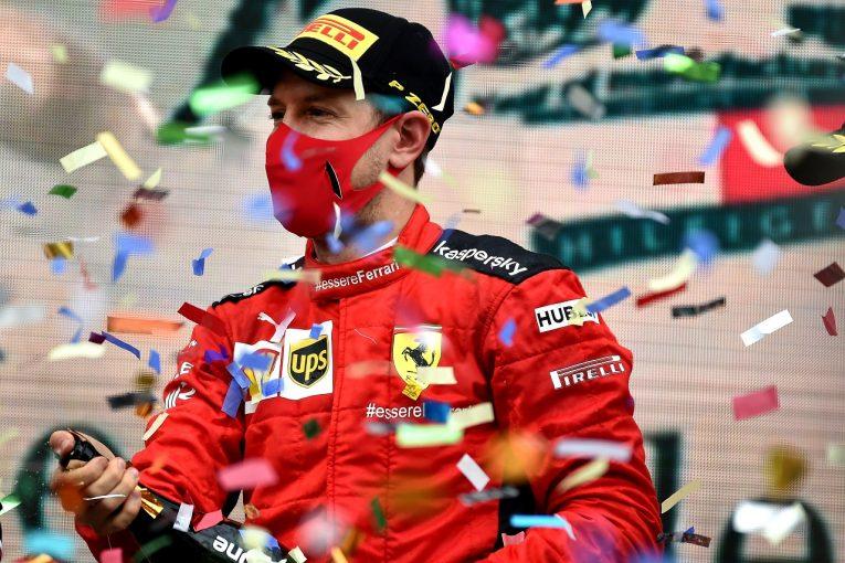F1   ベッテル、劇的な3位奪取で2020年初表彰台「ドライタイヤに替えていれば勝てたかもしれない」フェラーリ【F1第14戦】
