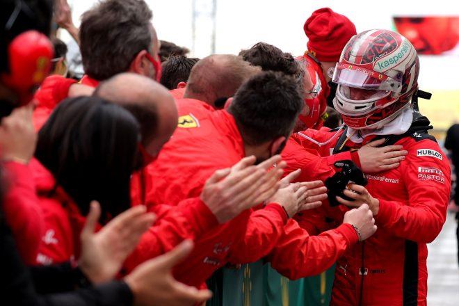 2020年F1第14戦トルコGP レース後のシャルル・ルクレール(フェラーリ)