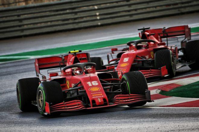 2020年F1第14戦トルコGP シャルル・ルクレールとセバスチャン・ベッテル(フェラーリ)