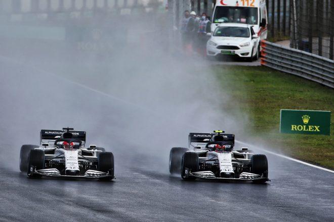 2020年F1第14戦トルコGP ダニール・クビアトとピエール・ガスリー(アルファタウリ・ホンダ)