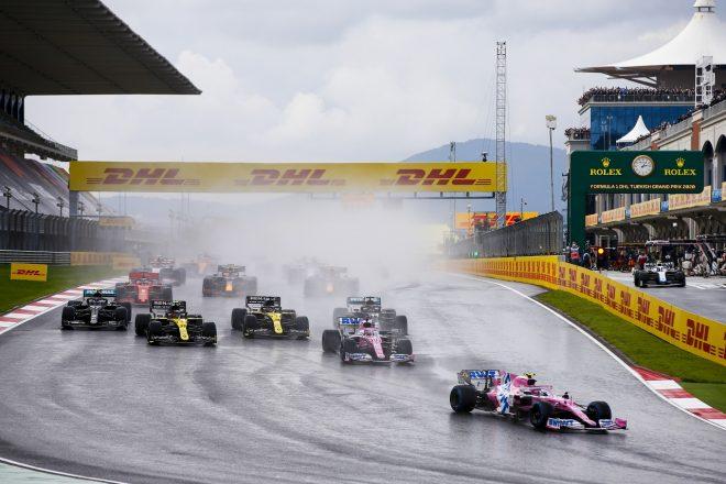2020年F1第14戦トルコGP ポールポジションからレースをリードするランス・ストロール(レーシングポイント)
