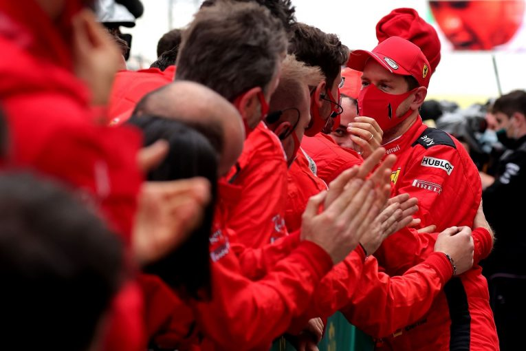 F1 | 「ドライタイヤなら勝てたかも」とベッテル。フェラーリF1、悩ましい判断迫られたと認める