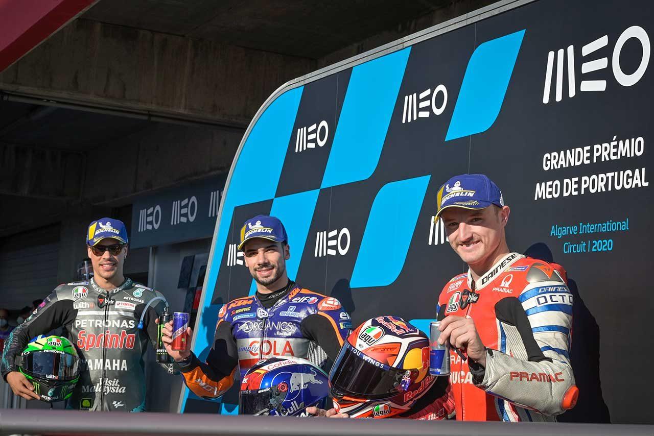 母国で初ポール獲得のオリベイラ「特別な気持ち。レースペースには期待できると思う」/MotoGP第15戦予選トップ3コメント