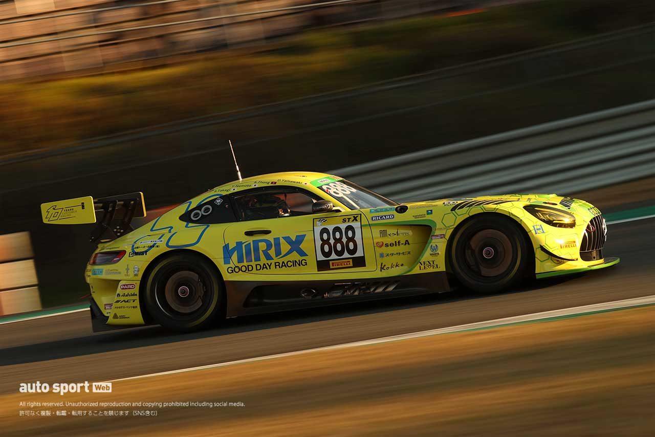 新車投入となった第4戦もてぎを制したHIRIX GOOD DAY RACING AMG GT3(山脇大輔/ショウン・トン/根本悠生)