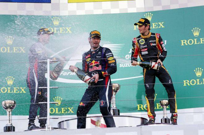 2013年F1第15戦日本GP 表彰式