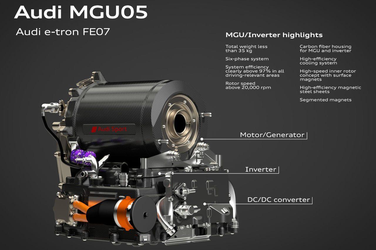 フォーミュラE:アウディ、自社開発パワートレイン搭載の新型車『e-トロンFE07』公開