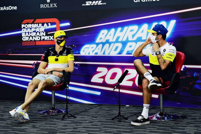 F1 | F1バーレーンGP木曜会見(2):リカルド、前戦の接触を謝罪。オコンは「悪いタイミングで悪い場所にいた」と恨みなし