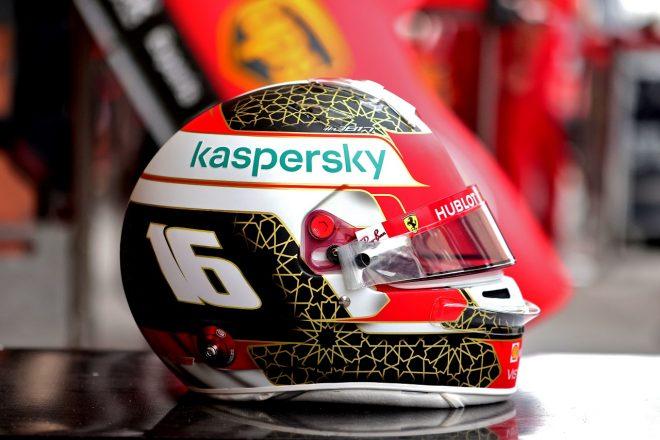 2020年F1第15戦バーレーンGP シャルル・ルクレール(フェラーリ)のスペシャルデザインヘルメット