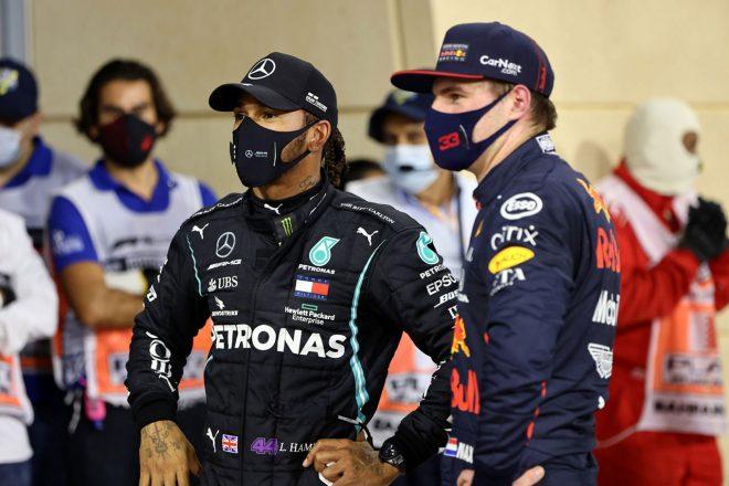 2020年F1第15戦バーレーンGP ルイス・ハミルトン(メルセデス)&マックス・フェルスタッペン(レッドブル・ホンダ)