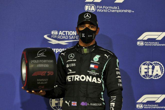 2020年F1第15戦バーレーンGP ルイス・ハミルトン(メルセデス)がポールポジションを獲得