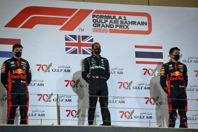 2020年F1第15戦バーレーンGP 表彰式