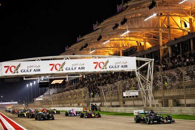 2020年F1第15戦バーレーンGP 決勝レーススタート