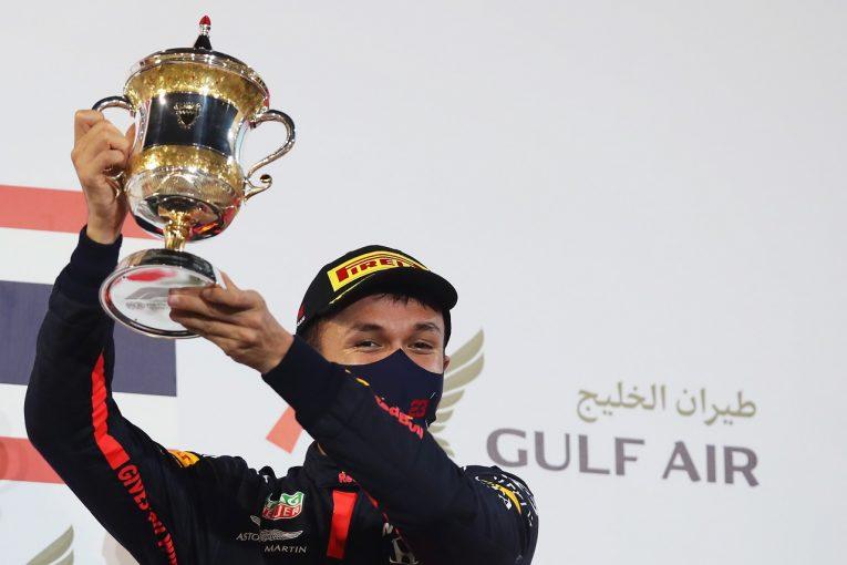 F1 | アルボン3位で2回目の表彰台「車を直してくれた皆にお返しができた」レッドブル・ホンダ【F1第15戦】