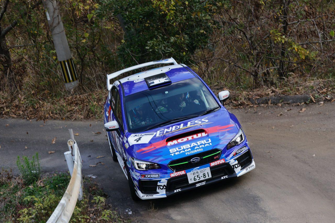 全日本ラリー:新井大輝が第3戦唐津で逆転優勝。今季2勝目でチャンピオン獲得