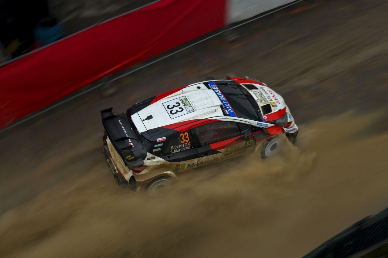 WRCモンツァ:トヨタ、豪雨のデイ2でオジエが3番手に。SS5ではヤリスWRCがトップ4独占