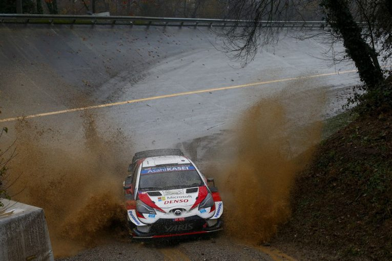 ラリー/WRC | WRCモンツァ:トヨタ、豪雨のデイ2でオジエが3番手に。SS5ではヤリスWRCがトップ4独占