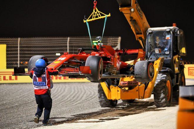 2020年F1第16戦サクヒールGP決勝 シャルル・ルクレール(フェラーリ)がアクシデントでリタイア