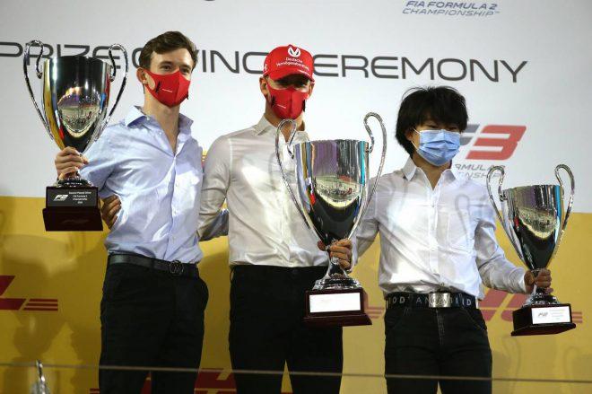 2020年FIA-F2第12戦バーレーン レース後セレモニー