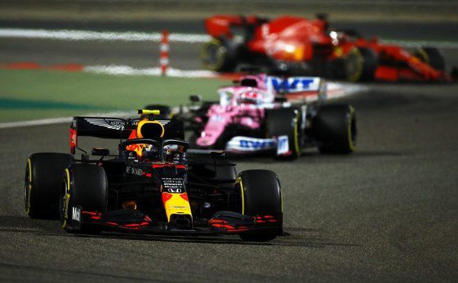 2020年F1第16戦サクヒールGP アレクサンダー・アルボンのレッドブルRB16・ホンダ