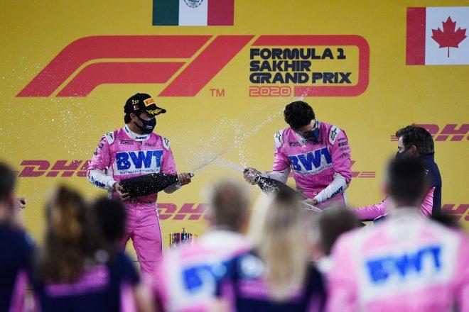2020年F1第16戦サクヒールGP セルジオ・ペレス(レーシングポイント)が初優勝、ランス・ストロール(レーシングポイント)が3位