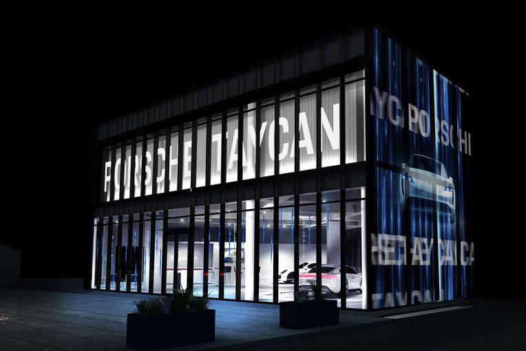 クルマ   ポルシェ、フル電動スポーツカー『タイカン』のポップアップストアを期間限定で原宿にオープン