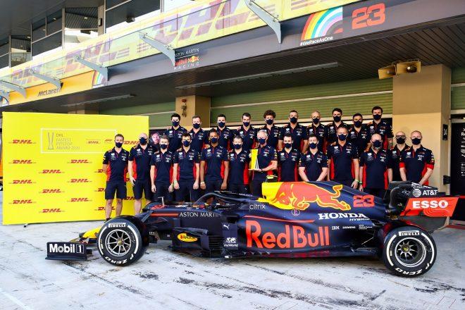 2020年F1第17戦アブダビGP レッドブル、DHLファステストピットストップ賞を受賞