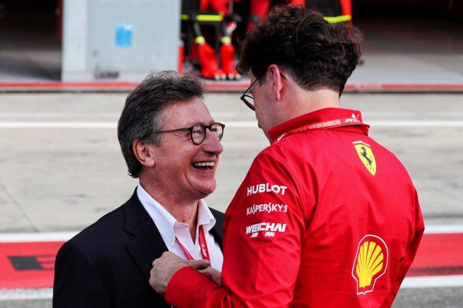 フェラーリ社CEOを務めたルイス・カミッレーリとフェラーリF1チーム代表マッティア・ビノット