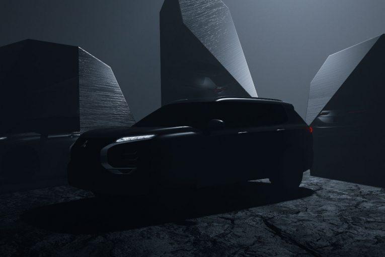 クルマ   ミツビシ、2021年2月に新型『アウトランダー』発表へ。デザインを一部先行公開