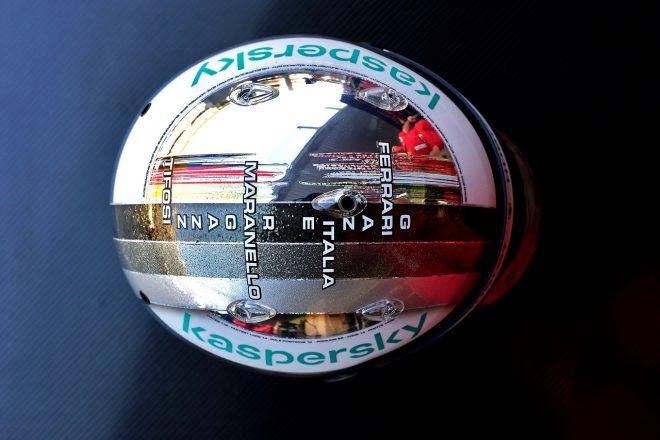 2020年F1第17戦アブダビGP セバスチャン・ベッテル(フェラーリ)のスペシャルデザインヘルメット