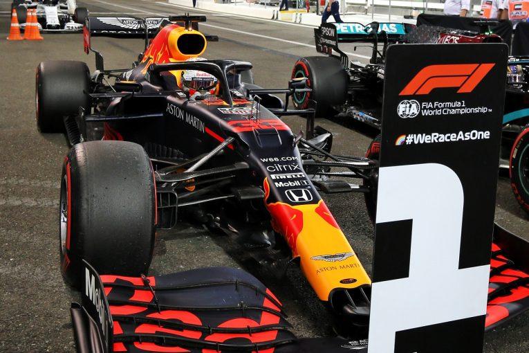 F1   フェルスタッペン逆転ポール。ホンダがメルセデスPUの予選全戦制覇を阻む「最後に一矢報いた」と田辺TD【F1第17戦】