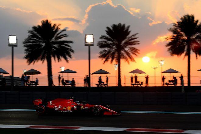 2020年F1第17戦アブダビGP セバスチャン・ベッテルのフェラーリSF1000