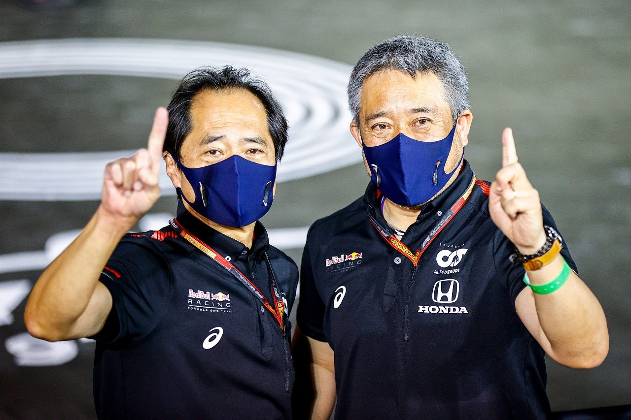 2020年F1第17戦アブダビGP ホンダF1テクニカルディレクター田辺豊治氏とホンダF1マネージングディレクター山本雅史氏