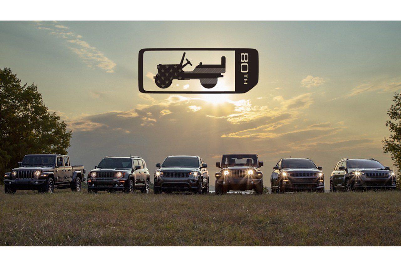 『ジープ・レネゲード』など主力4車種に、人気カラー採用の80周年記念限定車が登場